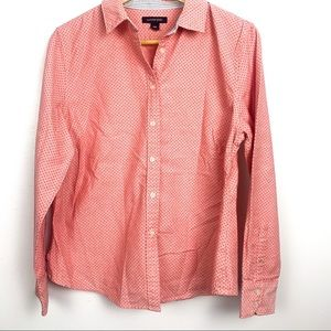 Land's end shirt size 10P pink button down